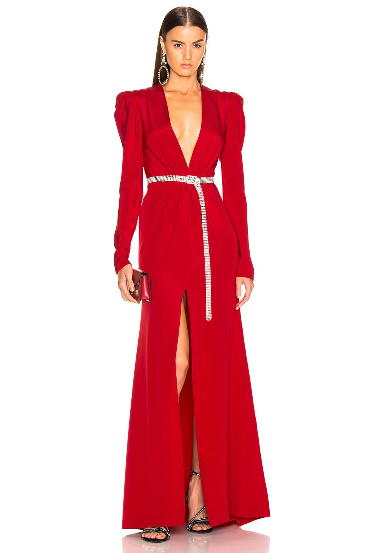 Silvia Tcherassi Caeli Dress with Padded Shoulders $1,750