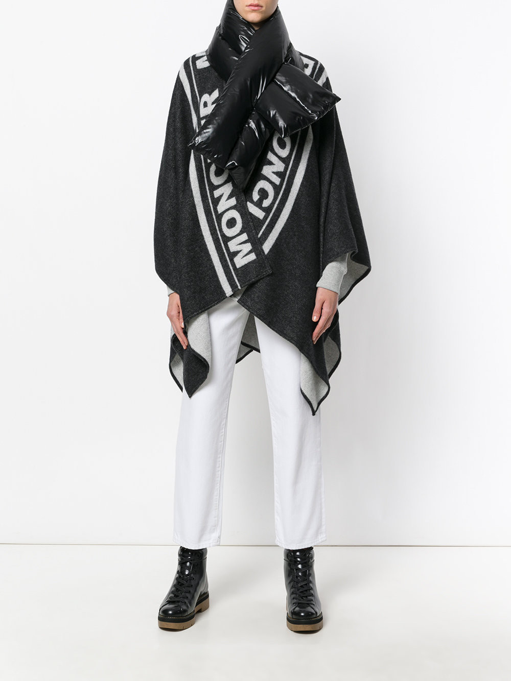 Moncler oversized padded collar cape $755