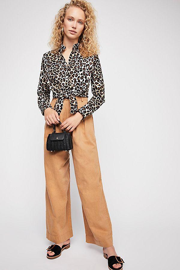 Leopard Love Buttondown Top $98
