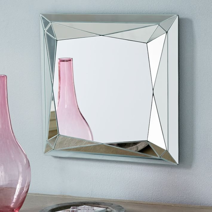 West Elm Faceted Mirror - Princess Cut $149