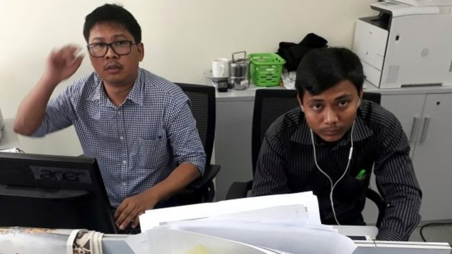 Myanmar Reuters journalists Wa Lone and Kyaw Soe Oo await verdict - Read More from BBC News