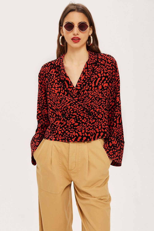 Topshop Leopard Print Shirt $68