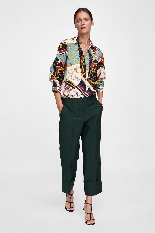 Zara Patchwork Chain Print Blouse $39.90