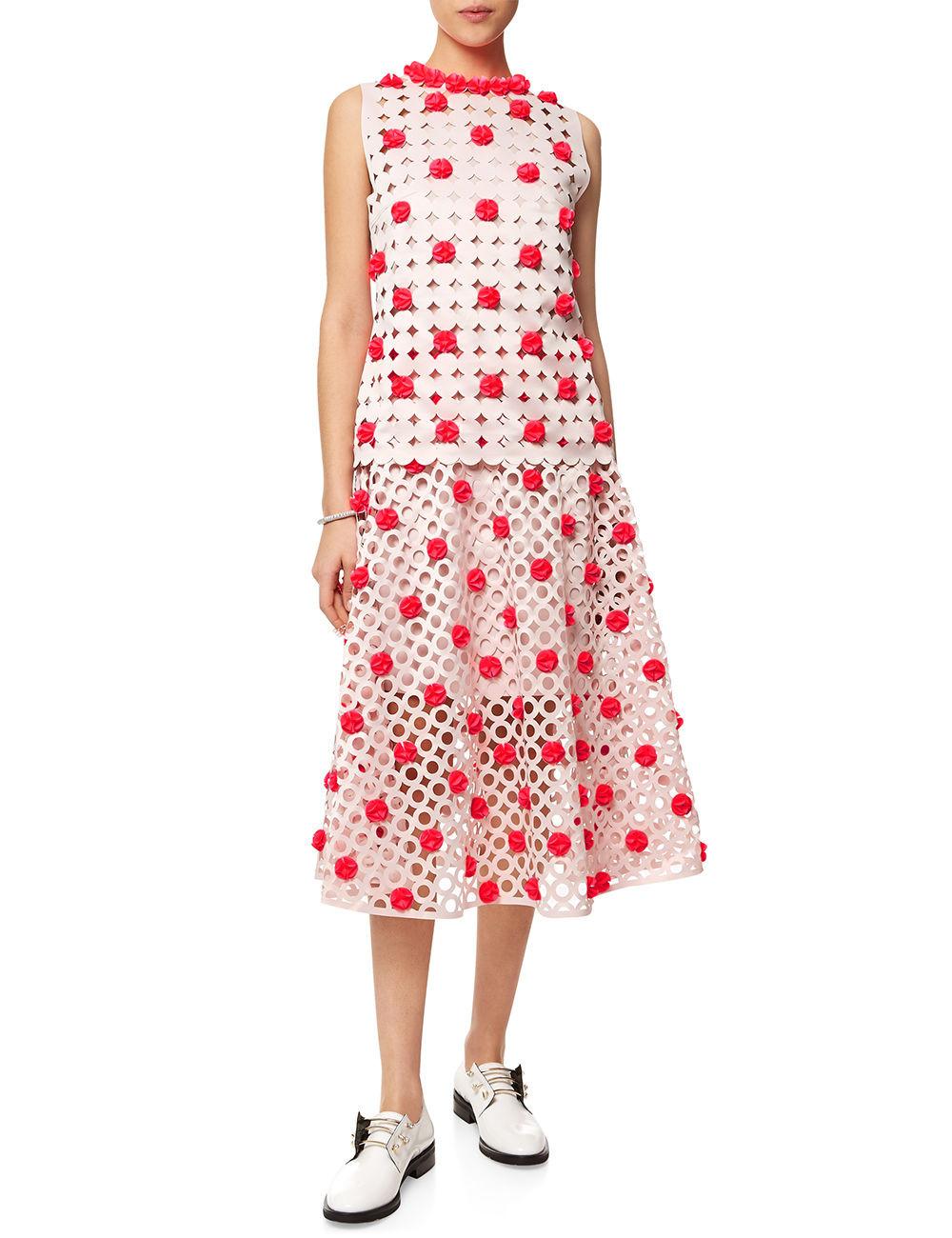 Paskal blush pink laser cut skirt $880 & matching top $625