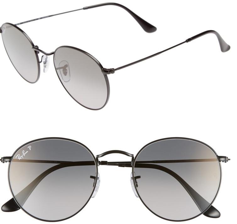 Ray-Ban 53mm Polarized Round Sunglasses $135.90