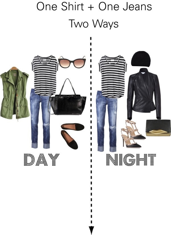 From day to night with the same t-shirt & jeans