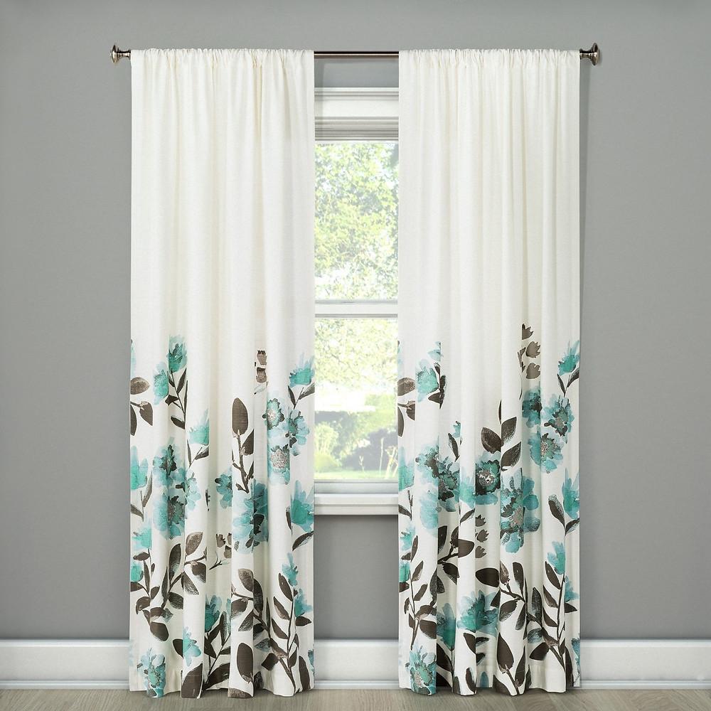 Climbing Floral Window Curtain Panel - Threshold™ $28.49