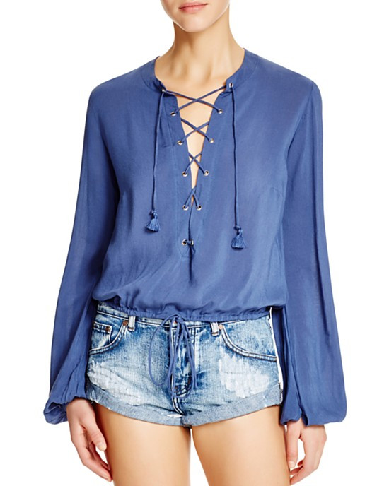 Faithfull The Brand lace-up top $105