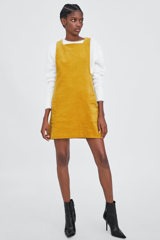 Zara Corduroy Pinafore Dress $45.90
