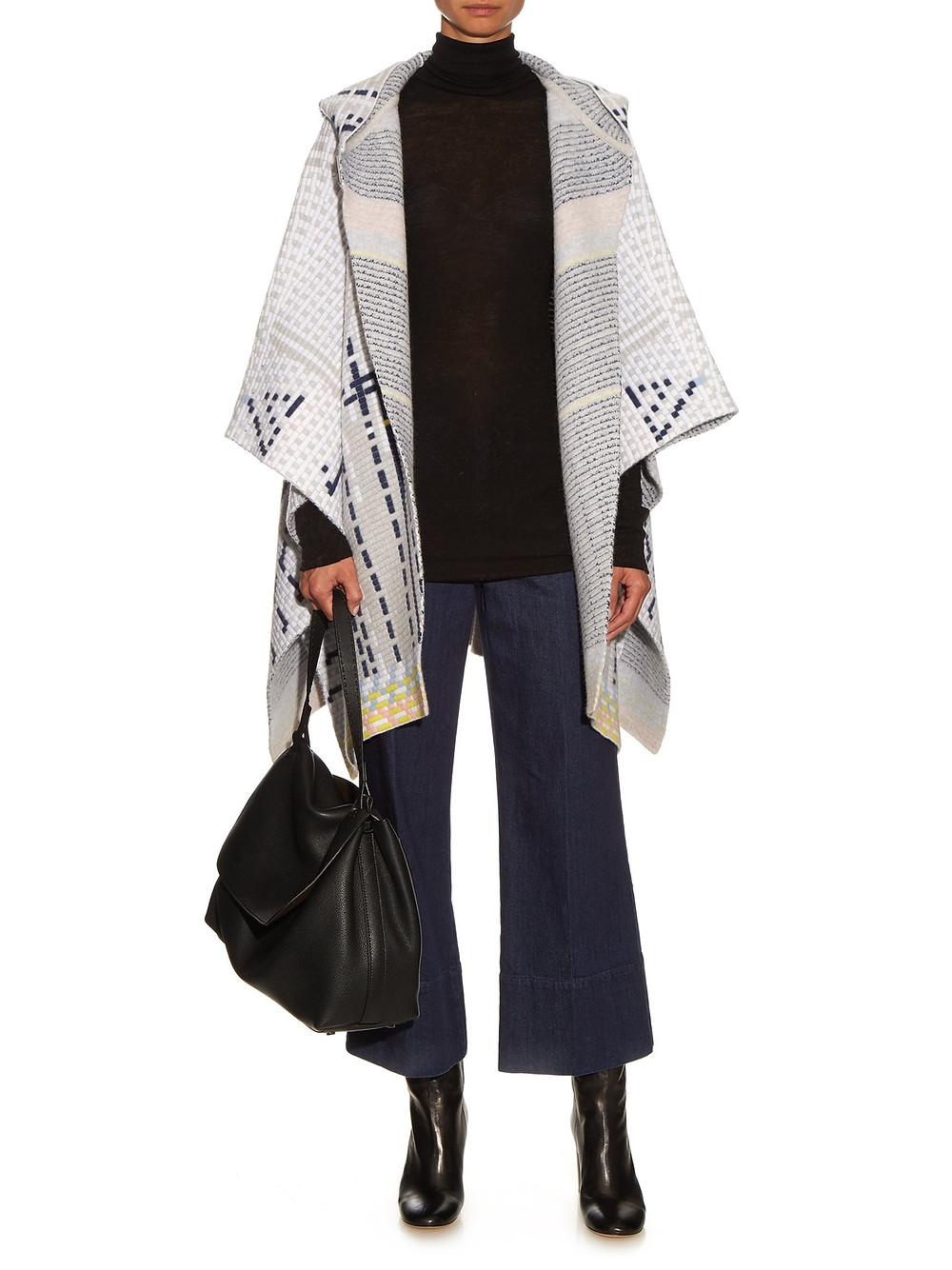 Peter Pilotto Ottaman knit wool-blend cape $750