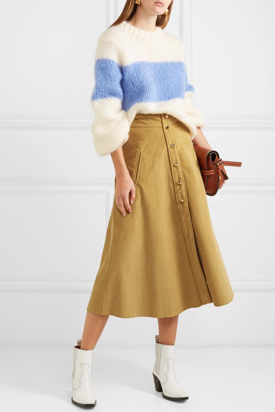 Anna Mason Liv cotton-corduroy midi skirt $625