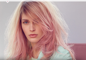 Rose Gold Hair Color - To get similar hair color look try Rose Gold Temporary Liquid Hair Makeup $4.99