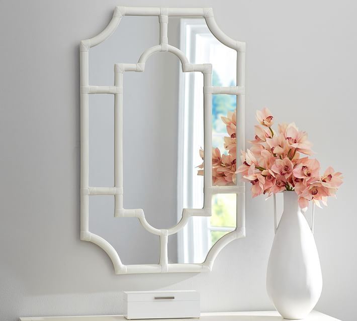 Avery White Bamboo Mirror $249-sold at Pottery Barn