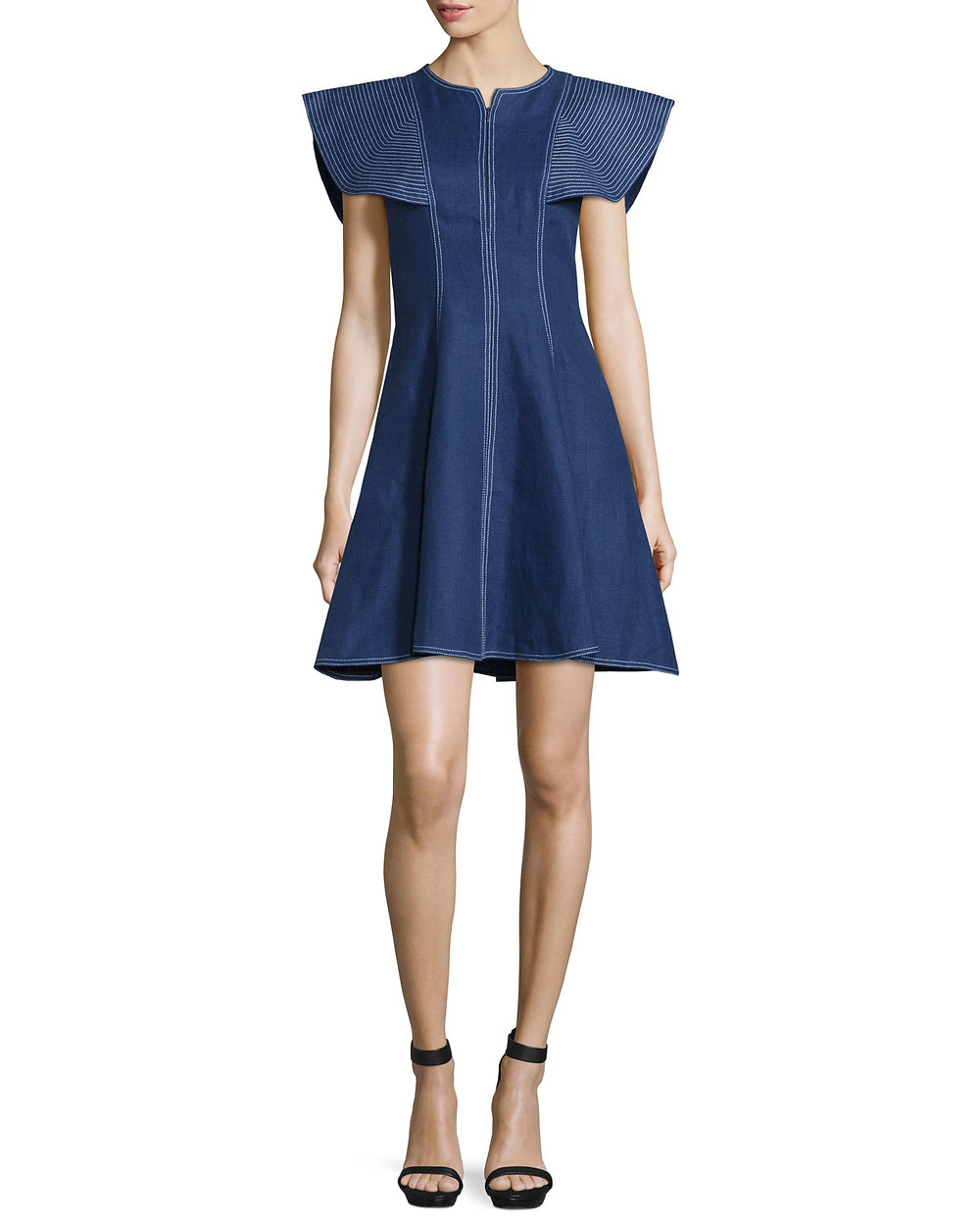 Andrew Gn fit and flare denim dress $1,950