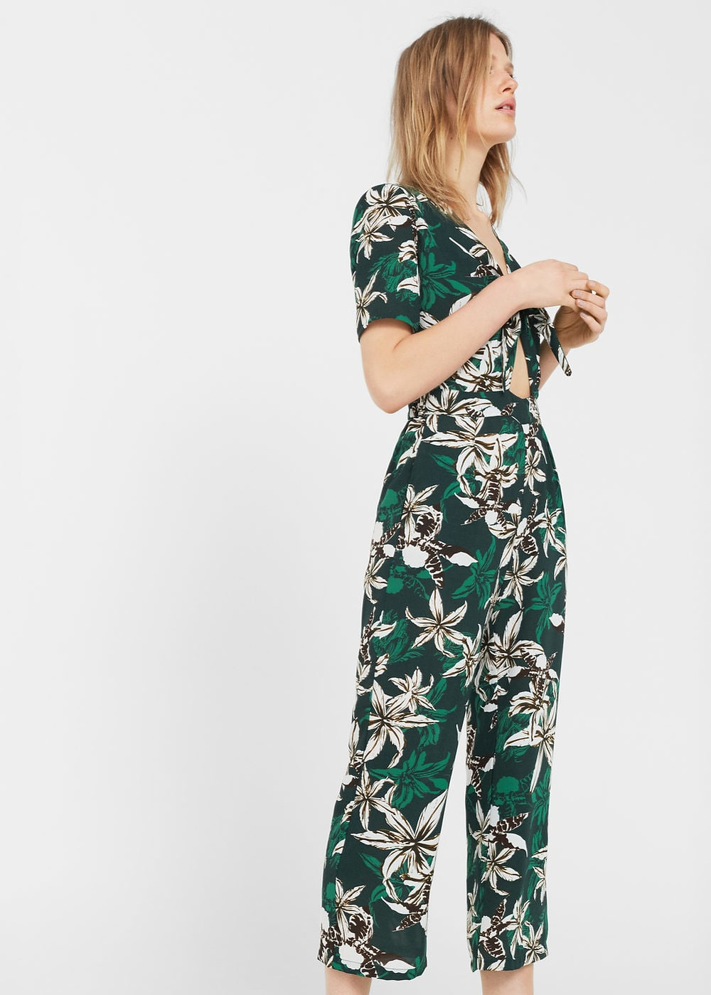 Mango Tropical print jumpsuit $59.99