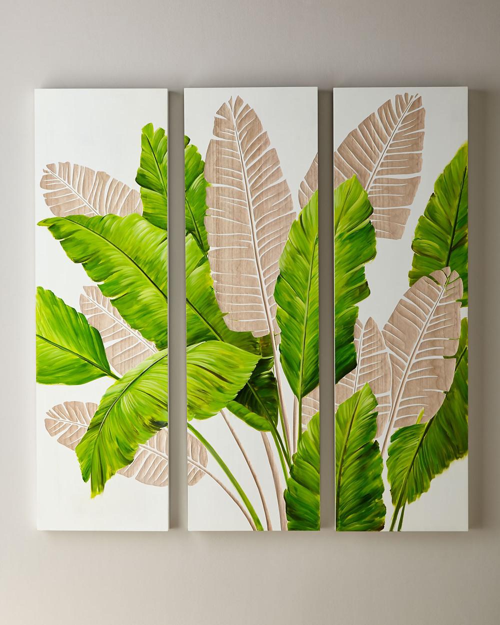 Legends Of Asia Palm Leaf Carved Wall Art, Set of 3 $849