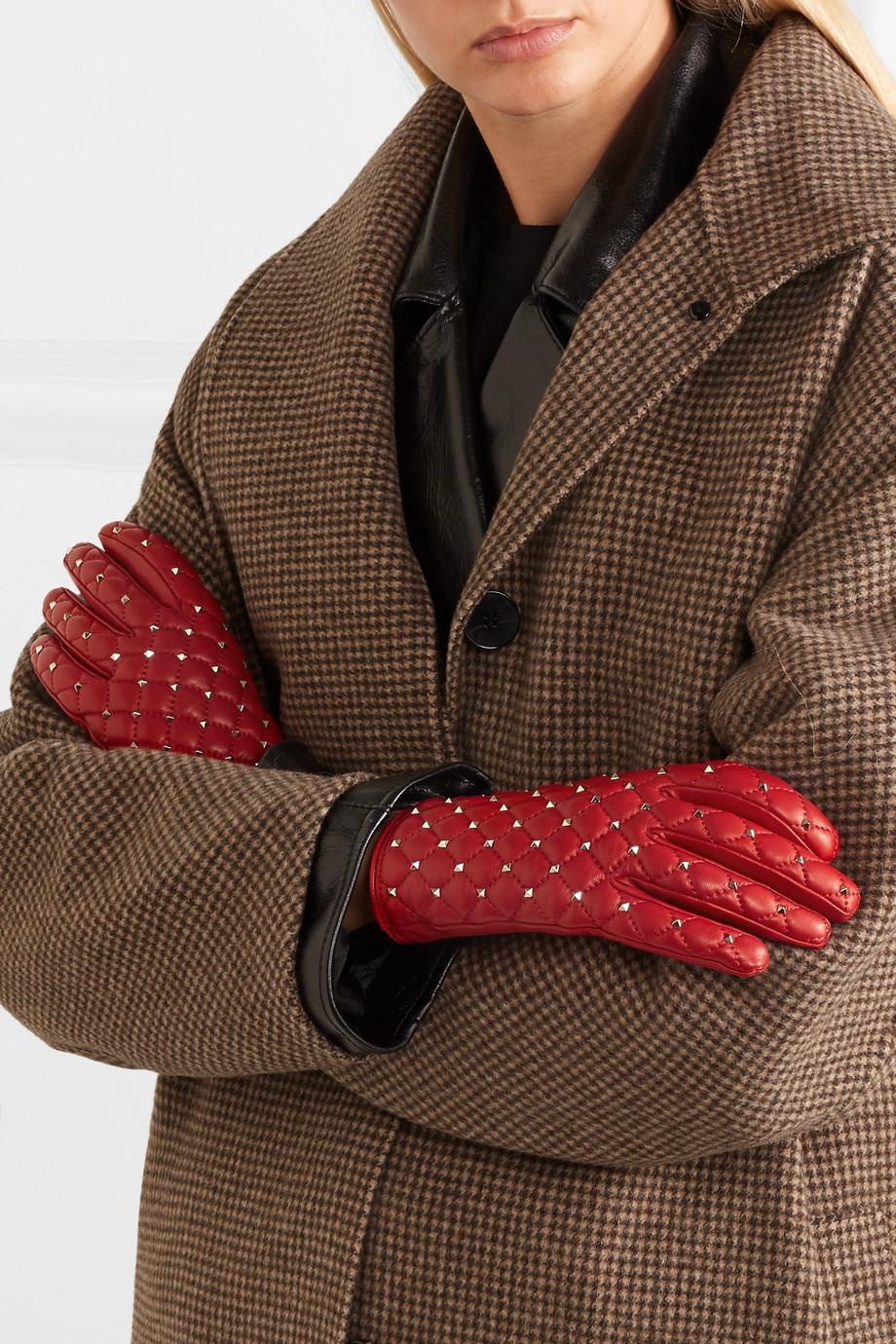 Valentino Valentino Garavani The Rockstud leather gloves $695