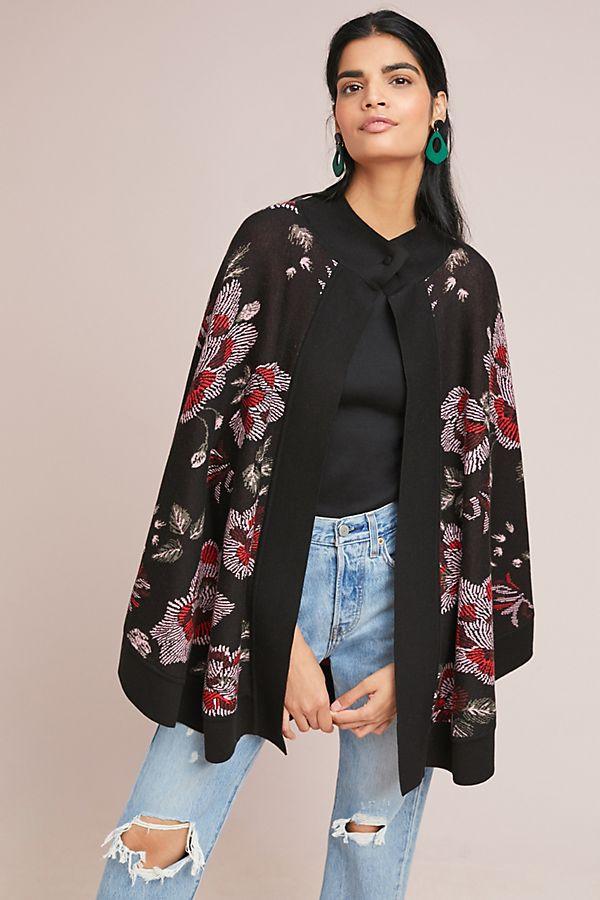 LAIA Monica Floral Poncho $248
