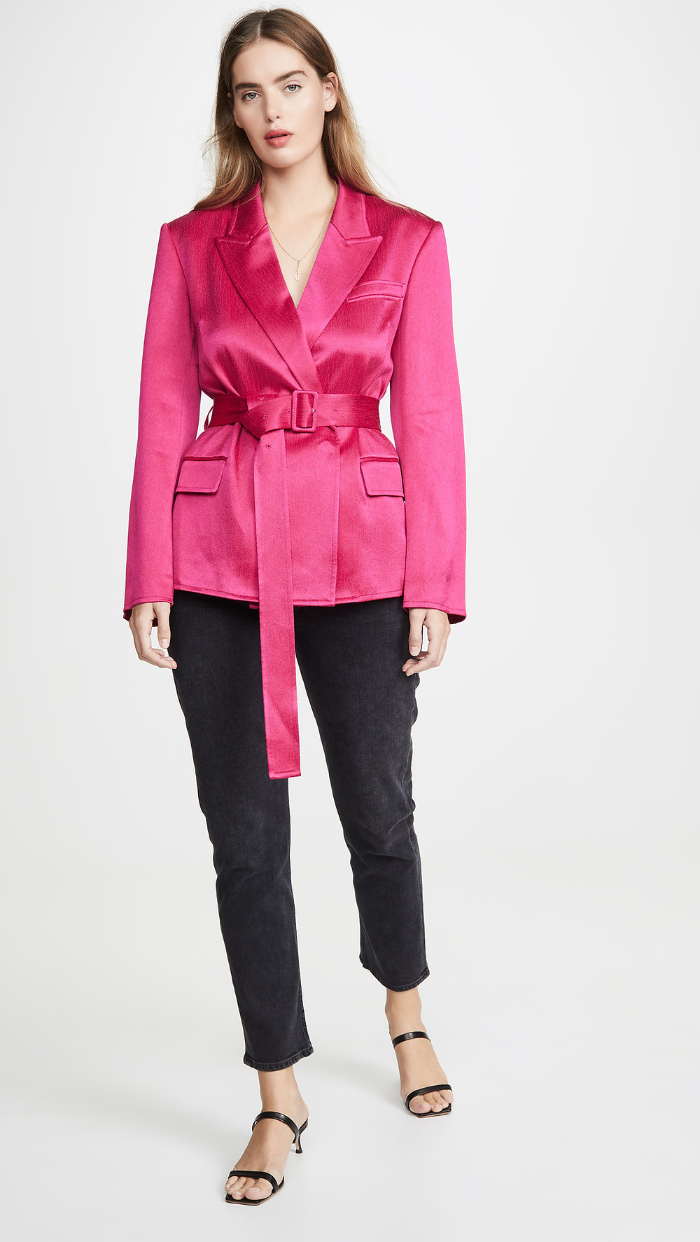 Adeam Belted Tailored Jacket with Padded Shoulders $1,795