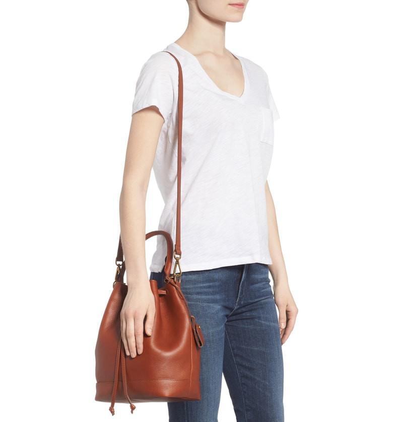 Madewell Lafayette Leather Bucket Bag $129.90