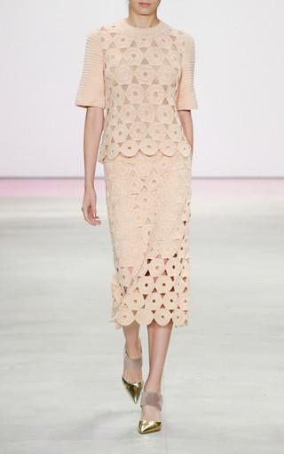 Lela Rose Macramé Crochet Knit Top now $382