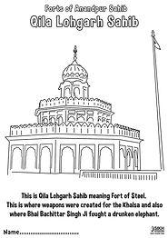 Fort Qila Lohgarh Anandpur Sahib Khalsa Fun Activity Sheet Guru Gobind Singh Ji
