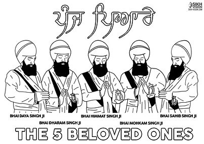 Happy Vaisakhi Khalsa 1699 Activity Sheet Greeting Card Khala Sirjina Divas Poster