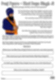 Panj Pyare Bhai Daya Singh Ji Vaisakhi 1699 Khalsa Amrit Ceremony Guru Gobind Singh Ji Fun Activity Sheet