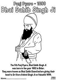 Panj Pyare Bhai Sahib Singh Ji Vaisakhi 1699 History Khalsa Amrit Ceremony Guru Gobind Singh Ji Fun Activity Sheet