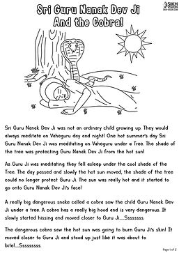 Guru Nanak Dev Ji and the Cobra 1.jpg