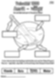 Vaisakhi Khalsa 1699 Khanda Bata Label Activity Sheet