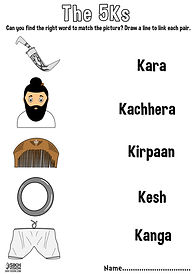 The 5ks Panj Kakaars Khalsa Amrit Ceremony Fun Activity Sheet