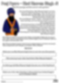 Panj Pyare Bhai Dharam Singh Ji Vaisakhi 1699 Khalsa Amrit Ceremony Guru Gobind Singh Ji Fun Activity Sheet