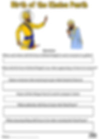 Birth of the Khalsa Vaisakhi 1699 Guru Gobind Singh Ji Activity Sheet