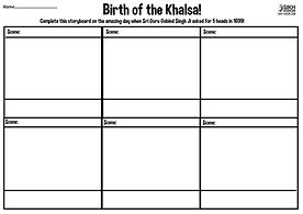 Vaisakhi 1699 Khalsa Amrit Ceremony Guru Gobind Singh Ji Fun Activity Sheet