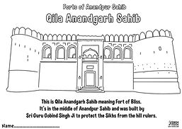 Fort Qila Anandgarh Anandpur Sahib Khalsa Fun Activity Sheet Guru Gobind Singh Ji