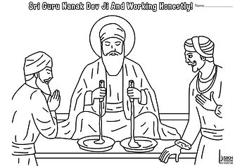 Guru Nanak Dev Ji and working hard pictu