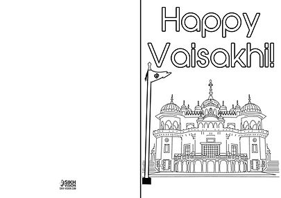 Happy Vaisakhi Khalsa 1699 Activity Sheet Greeting Card