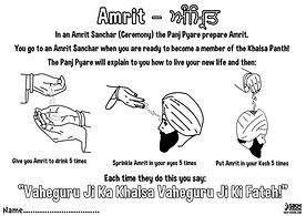 Vaisakhi 1699 Khalsa Amrit Ceremony Guru Gobind Singh Ji Activity Sheet