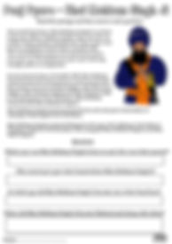 Panj Pyare Bhai Mohkam Singh Ji Vaisakhi 1699 History Khalsa Amrit Ceremony Guru Gobind Singh Ji Fun Activity Sheet