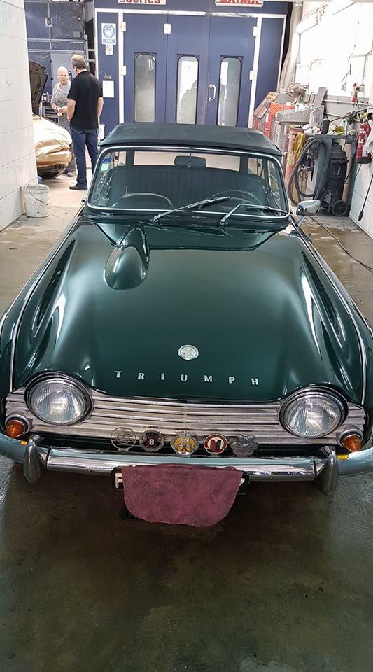 Fim de restauro de um Triumph Tr4A