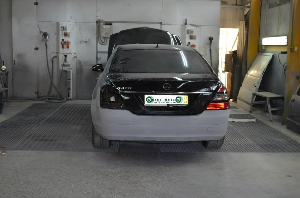 Preparação para pintura de um auto