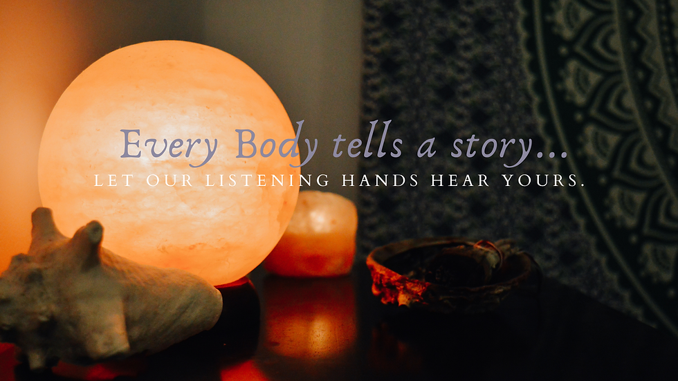 Every body tells a story let our listening hands hear yours himalayan salt lamp sage