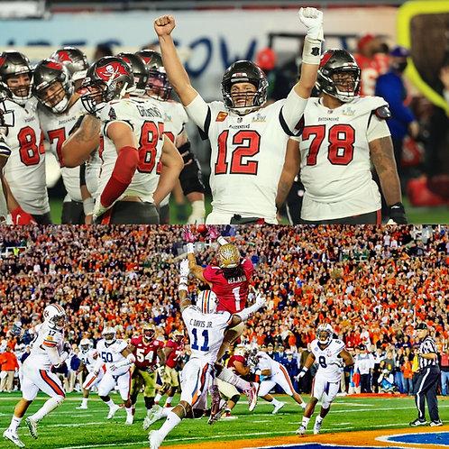 NFL + NCAAF Full Season + Bowls