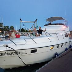 customer in front deck motor yacht patta