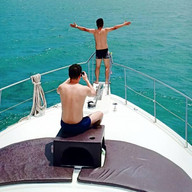 pattaya customer yacht front deck photo