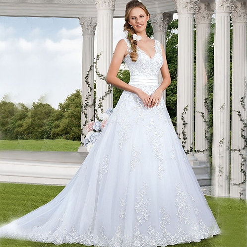Vestido De Noiva Que Vira Curto Cauda Capela