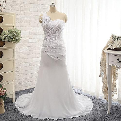 Vestido De Noiva Amarílis Um Ombro Só