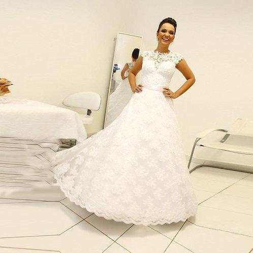 Vestido De Noiva Princesa Contemplação Calda Removivel