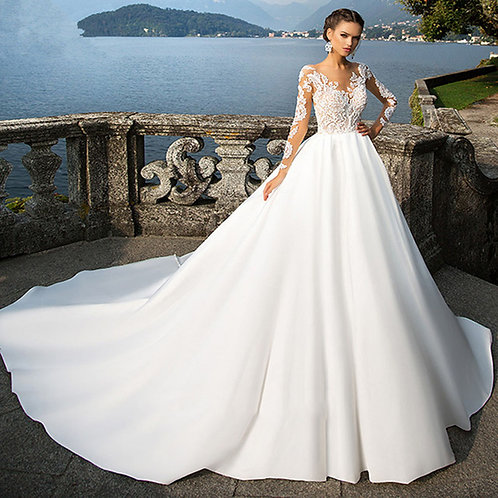 Vestido De Noiva Manga Longa Cumplicidade
